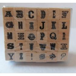 Dovecraft Mini Wooden Alphabet Stamp Set