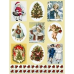 Dufex Foil Quality Stickers NOSTALGIC CHRISTMAS VICTORIAN CHILDREN