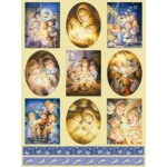 Dufex Foil Quality Stickers CHILDRENS NATIVITY CHRISTMAS cute