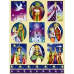 Dufex Foil Quality Stickers CONTEMPORARY CHRISTMAS Religious