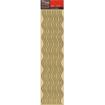 Long Mirror Borders. WAVY, GOLD. Self adhesive