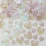 Table Confetti. 14g pack. Decoration & Crafts Irridescent HEARTS