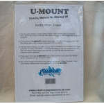 U-MOUNT.  A4 Repositional Mounting Cushion for Unmounted stamps.