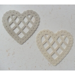 12 Lattice Heart Shapes.  Rustic WOOD EFFECT (Choose Original or New)