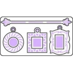 SHAPEABILITIES Cutting & Embossing Dies CHARMS & ROD, Small hanging frames (S3-087)